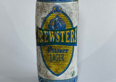 Brewsters Lager Can Front 1994