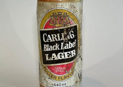 Carling Black Label Lager Can 1987