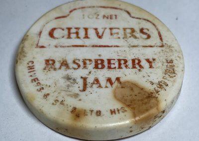 Chivers Raspberry Jam Plastic Lid 1960s