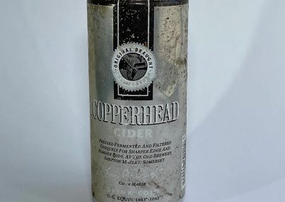 Copperhead Cider Can Front 1980s