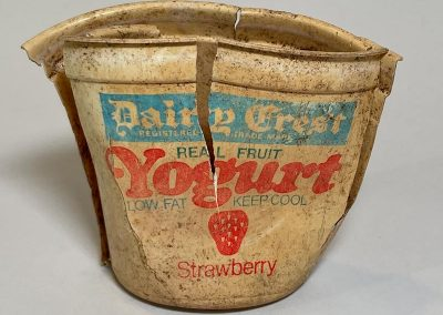 Dairy Crest Strawberry Yogurt Pot 1960s