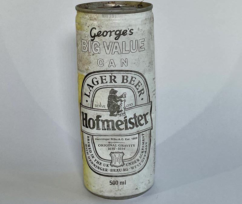 Hofmeister Lager Big Value Can 1989