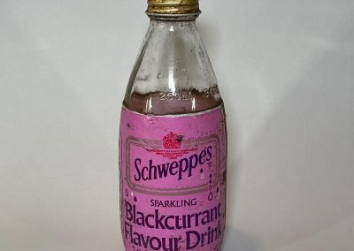 Schweppes Blackcurrant Drink Glass Bottle 1986