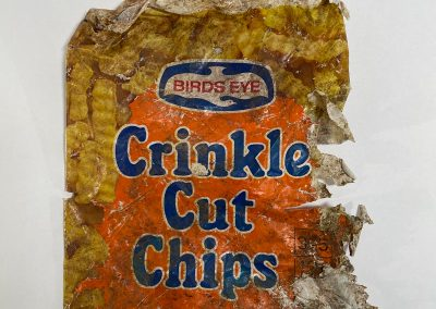 Birds Eye Crinkle Cut Chips Bag 1970s
