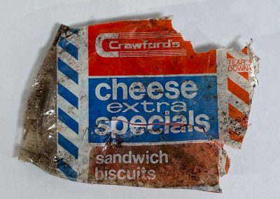 Crawfords Cheese Extra Specials Sandwich Biscuits Wrapper 1972