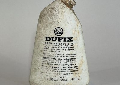ICI Dufix Adhesive Bottle 1960's