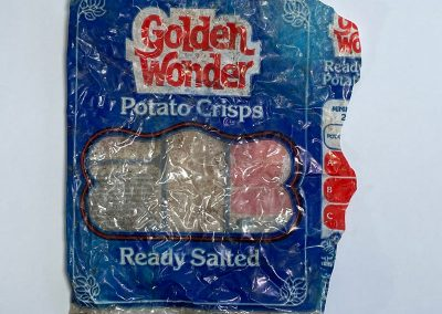 Golden Wonder Ready Salted Crisps Packet 1970s